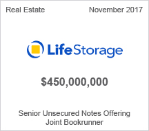 Life Storage  $450 million Senior Unsecured Notes Offering