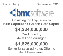 BMC Software - $4 billion Credit Facility - $1.6 billion Senior Unsecured Notes Offering