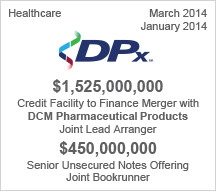 DPx - $1.5 billion Credit Facility - $450 million Senior Unsecured Notes Offering
