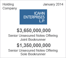 Ican Enterprises L.P. - $3.6 billion Senior Unsecured Notes Offering - $1.5 billion Senior Unsecured Notes Offering