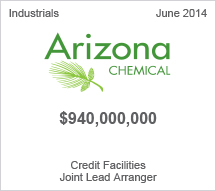 Arizona Chemical - $940 million Credit Facilities - Joint Lead Arranger