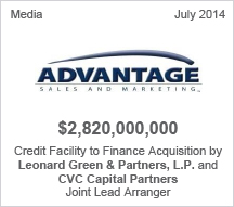 Advantage $2.8 billion Credit Facility to Finance Acquisition
