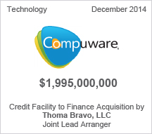 Compuware $1.9 billion Credit Facility