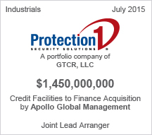 Protection1 - $1.4 billion Credit Facilities to Finance Acquision