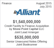 Alliant  $1.54 billion Credit Facility  - $535 million Senior Unsecured Notes Offering