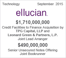 Ellucian $1.7 billion Credit Facility  - $490 million Senior Unsecured Notes Offering