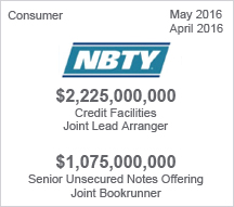 NBTY - $2.25 billion Credit Facility  - $1.075 billion Senior Unsecured Notes Offering