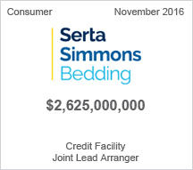Serta Simmons Bedding $2.6 billion Credit Facility  - Joint Lead Arranger