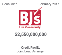 BJs - $2.55 billion Credit Facility