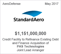 StandardAero $1.15 billion Credit Facility – Joint Lead Arranger