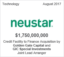 Neustar $1.75 billion Credit Facility to Finance Acquisition by Golden Gate Capital and GIC Special Investments