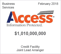 Access Information Protected - $1.010 billion Credit Facility - Joint Lead Arranger