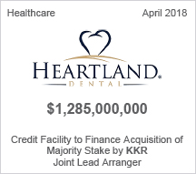 Heartland Dental - $1.28 billion Credit Facility to Finance Acquisition of Majority State by KKR - Joint Lead Arranger