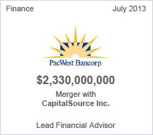 PacWest Bancorp $2.3 billion merger (pending)
