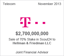 Deutsche Telekom  $2.7 billion sale