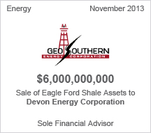 Geo Southern $6 billion sale of Eagle Ford Shale Assets