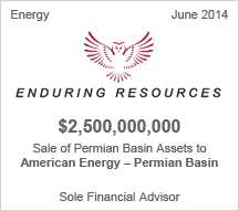 Enduring Resources $2.5 billion Sale of Permian Basin Assets toAmerican Energy – Permian Basin