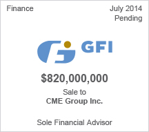 GFI $820 million Sale to CME Group Inc.