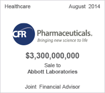 CFR Pharmaceuticals $3.3 billion sale