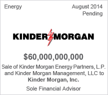 Kinder Morgan $60 billion sale