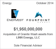Enervest - Fourpoint $1.9 billion acquisition