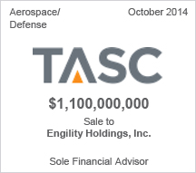 TASC $1 billion sale to Engility Holdings, Inc.
