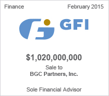 GFI $1 billion Sale to BGC Partners, Inc.