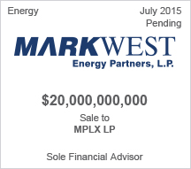 Markwest Energy Partners, L.P.  $20 billion sale to MPLX LP - Pending