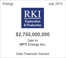 RKI $2.7 billion sale to WPX Energy Inc. - Pending