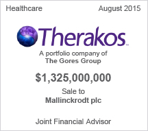 Therakos $1.3 billion sale