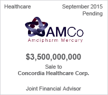 Amdipharm $3.5 billion Sale to Concordia Healthcare Corp.