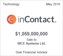 inContact $1.059 billion Sale to NICE Systems Ltd.
