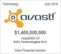 Avast  $1.4 billion Acquisition to AVG Technologies N.V.