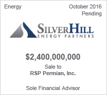 Silver Hill Partners $2.4 billion Sale to RSP Permian, Inc. - Sole Financial Advisor