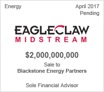 EagleClaw $2 billion Sale to Blackstone Energy Partners - Sole Financial Advisor