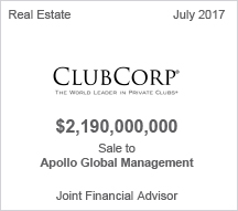 Club Corp $2.9 billion Sale to Apollo Global Management