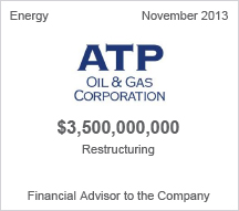 ATP Oil & Gas Corporation $3.5 billion restructuring