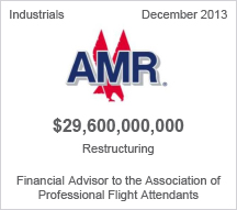 AMR $29.6 billion restructuring