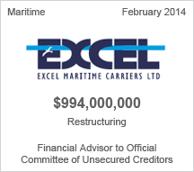 Excel Maritime Carriers, Ltd $994 million restructuring