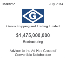 Genco Shipping and Trading Limited $1.4 billion restructuring