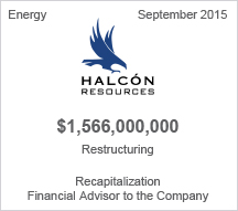 Halcon Resources $1.56 billion recapitalization