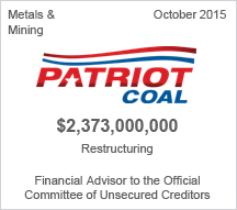 Patriot Coal $2.3 billion restructuring