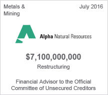Alpha Natural Resources $7.1 billion restructuring
