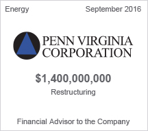 Penn Virginia Corporation $1.4 billion restructuring