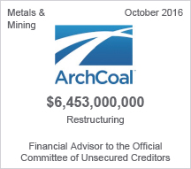 ArchCoal $6.45 billion restructuring